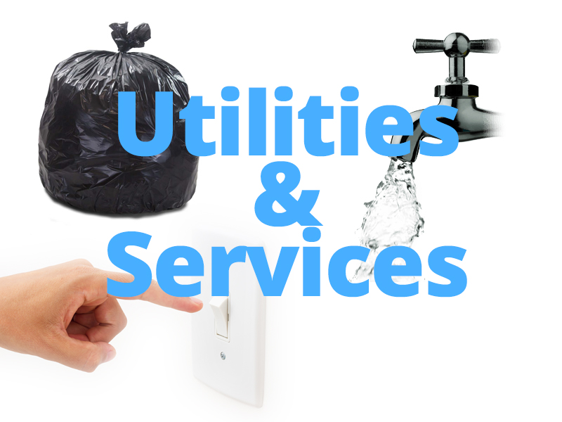 utilities water electric gas